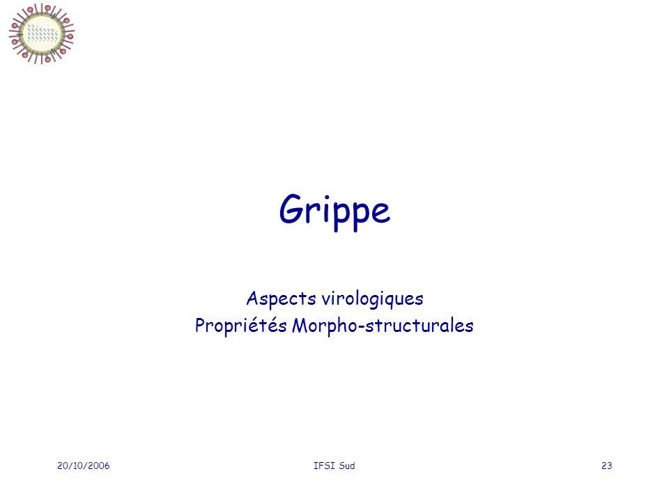 Aspects virologiques Propriétés Morpho-structurales