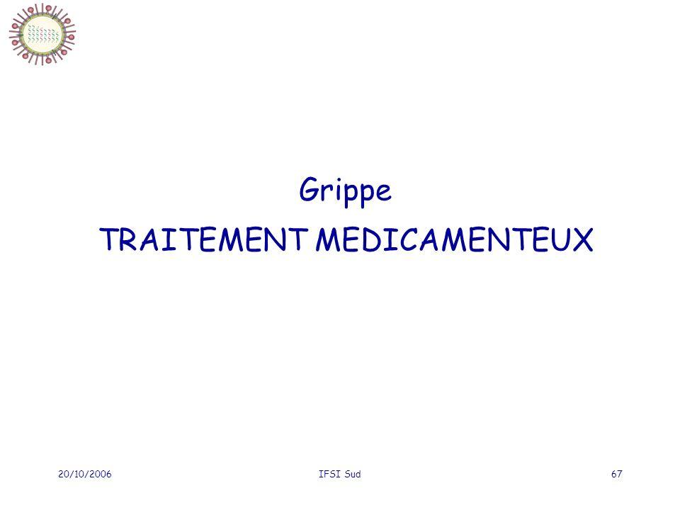 Grippe TRAITEMENT MEDICAMENTEUX