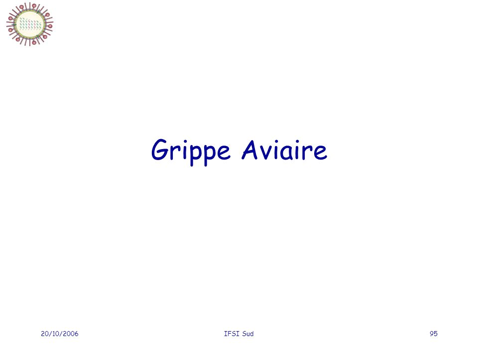 Grippe Aviaire 20/10/2006 IFSI Sud