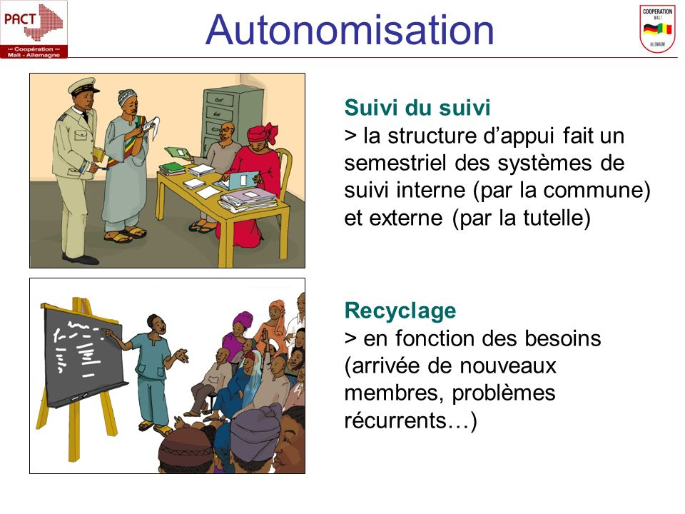 Autonomisation Suivi du suivi