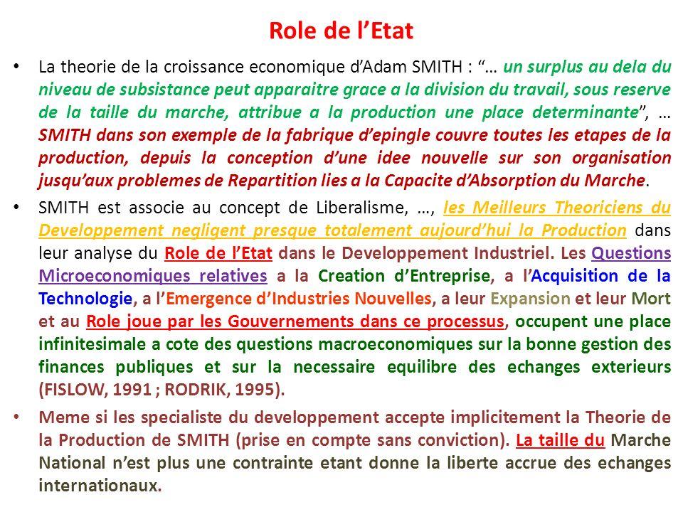 Role de l'Etat