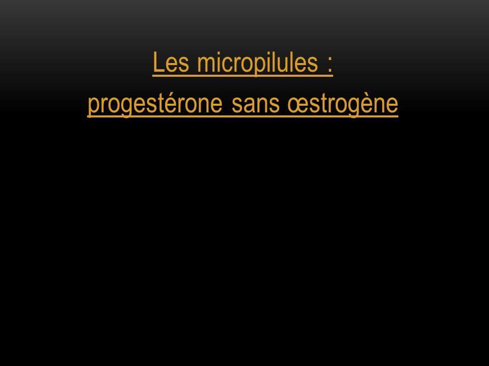 progestérone sans œstrogène