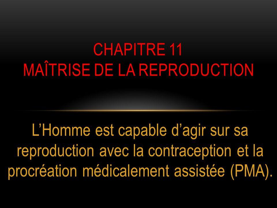 CHAPITRE 11 Maîtrise de la reproduction