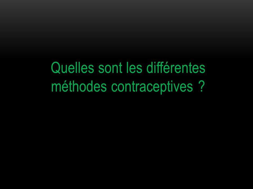 Quelles sont les différentes méthodes contraceptives