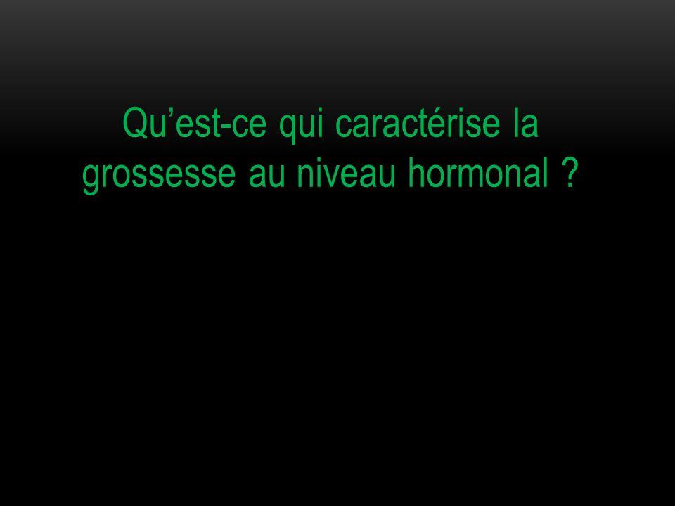 Qu'est-ce qui caractérise la grossesse au niveau hormonal