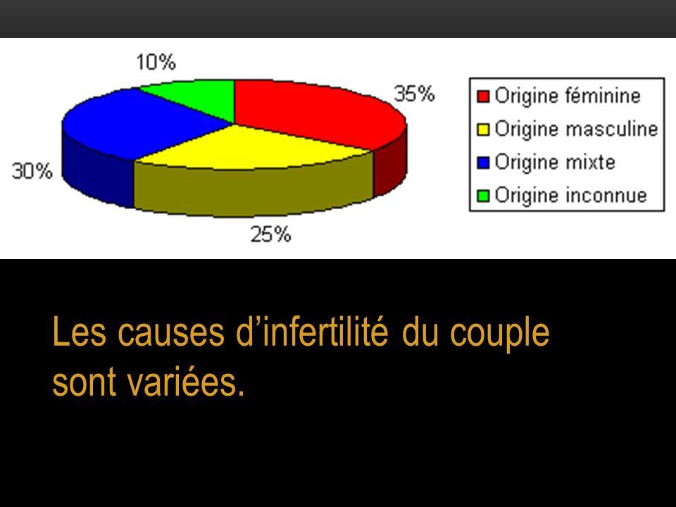 Les causes d'infertilité du couple sont variées.