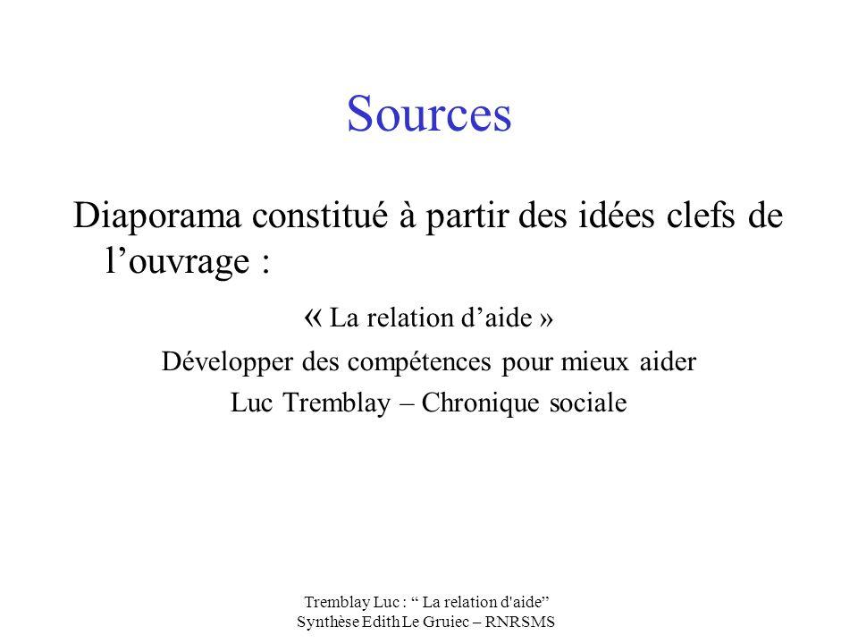 Sources Diaporama constitué à partir des idées clefs de l'ouvrage :
