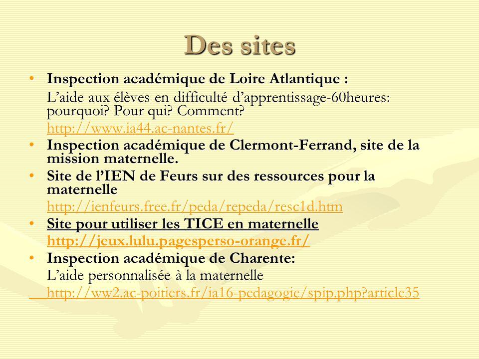 Des sites Inspection académique de Loire Atlantique :