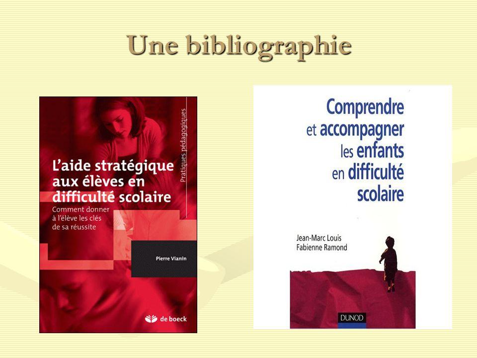 Une bibliographie