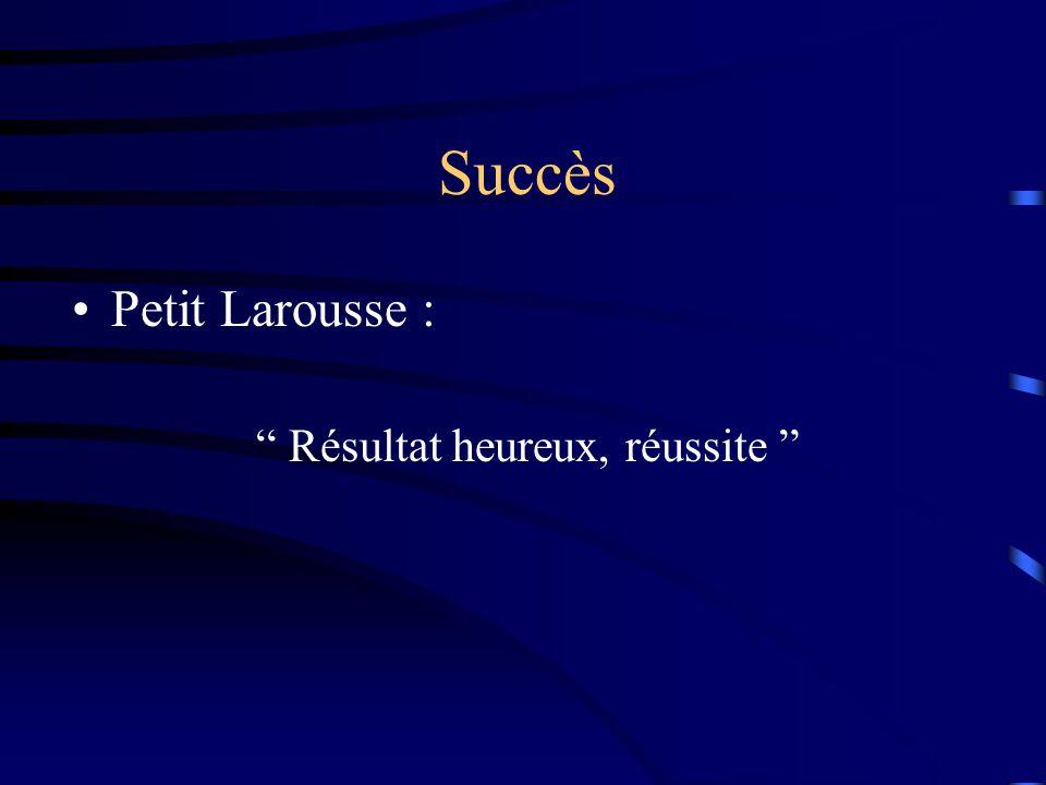 Résultat heureux, réussite