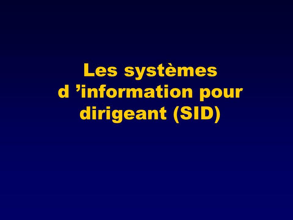 Les systèmes d 'information pour dirigeant (SID)