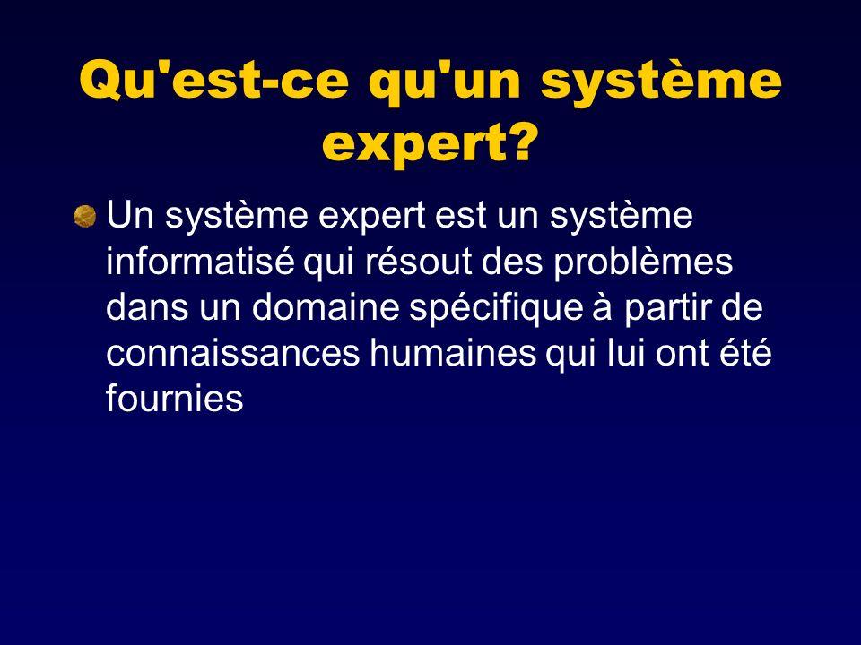 Qu est-ce qu un système expert
