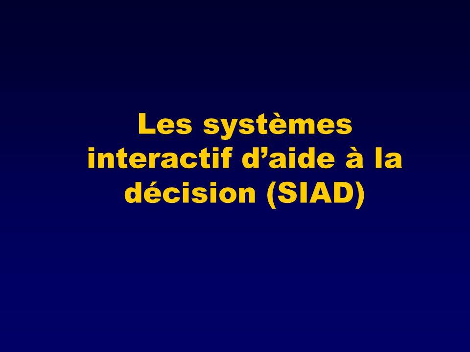 Les systèmes interactif d'aide à la décision (SIAD)