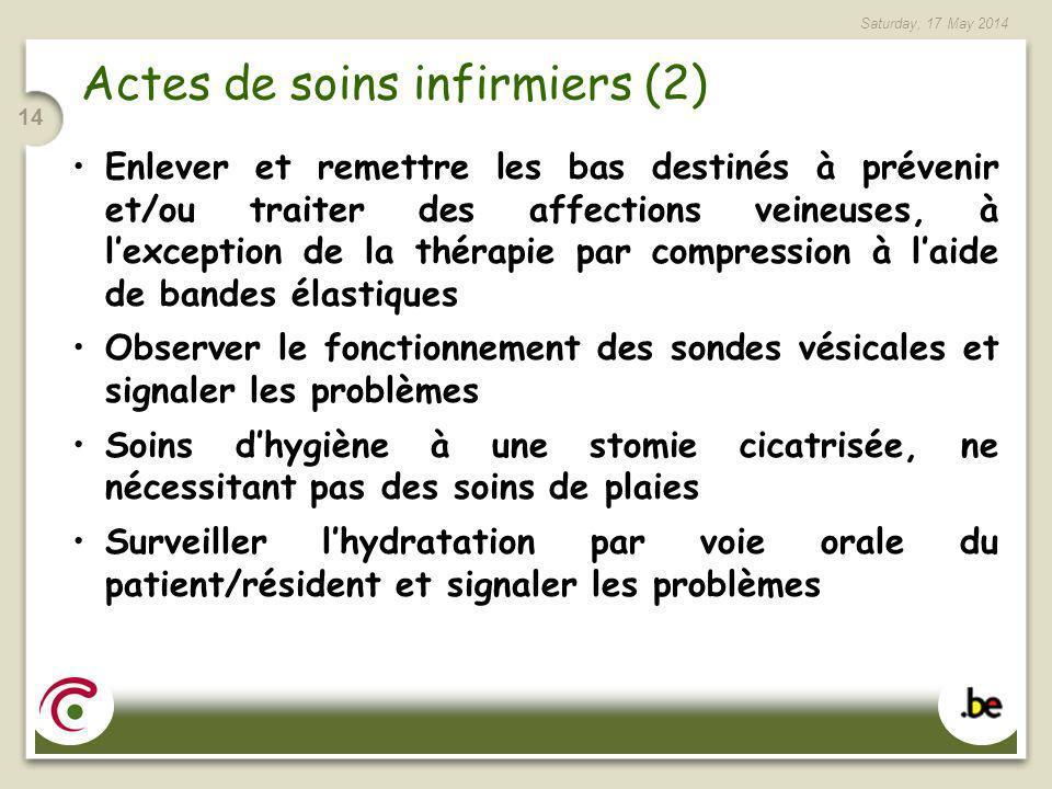 Actes de soins infirmiers (2)