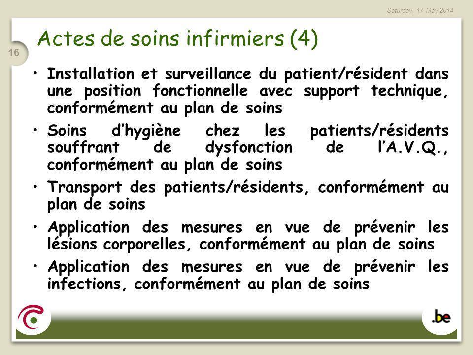 Actes de soins infirmiers (4)