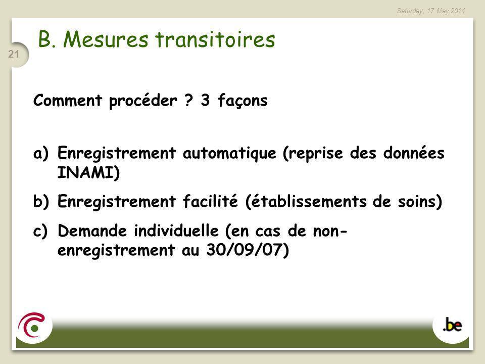 B. Mesures transitoires