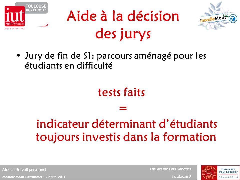 Aide à la décision des jurys