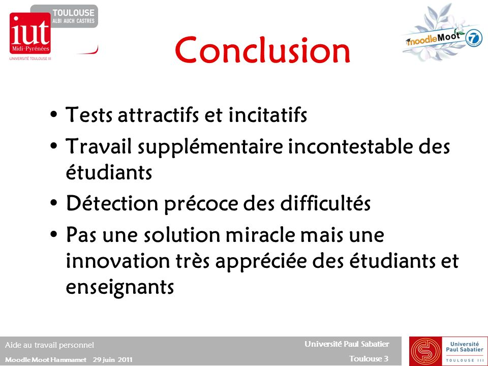 Conclusion Tests attractifs et incitatifs