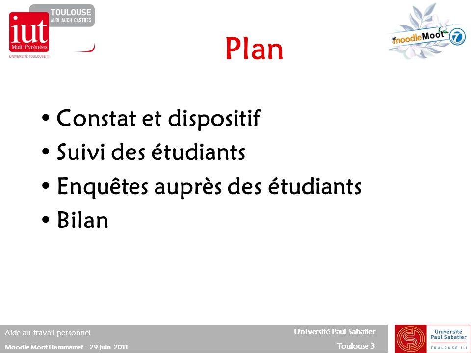 Plan Constat et dispositif Suivi des étudiants