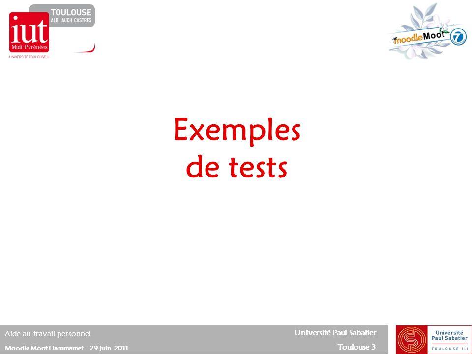 Exemples de tests 20