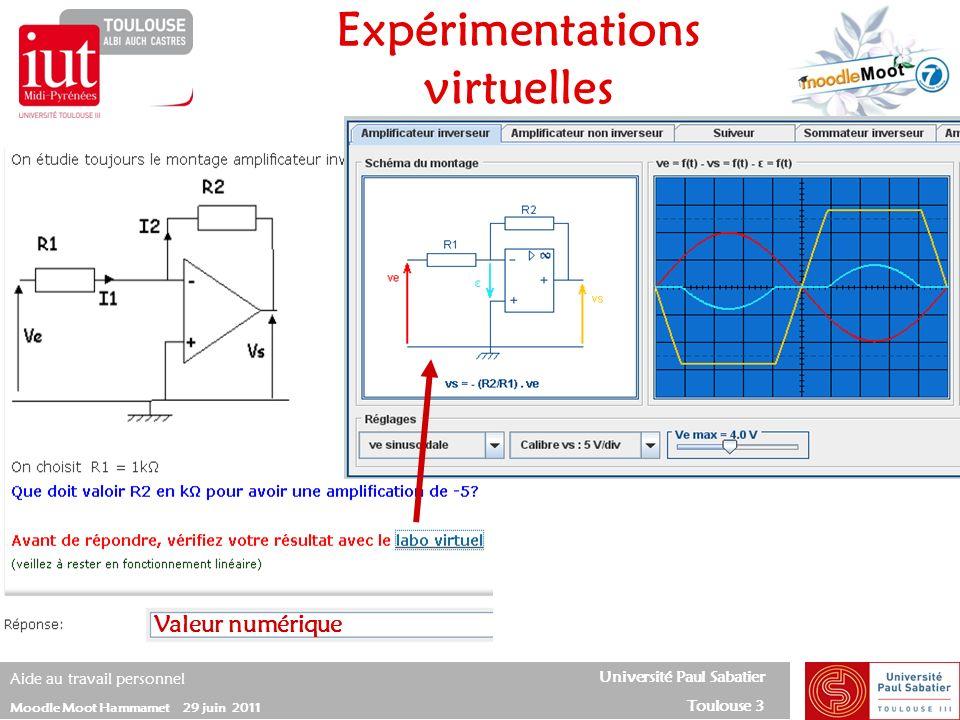 Expérimentations virtuelles