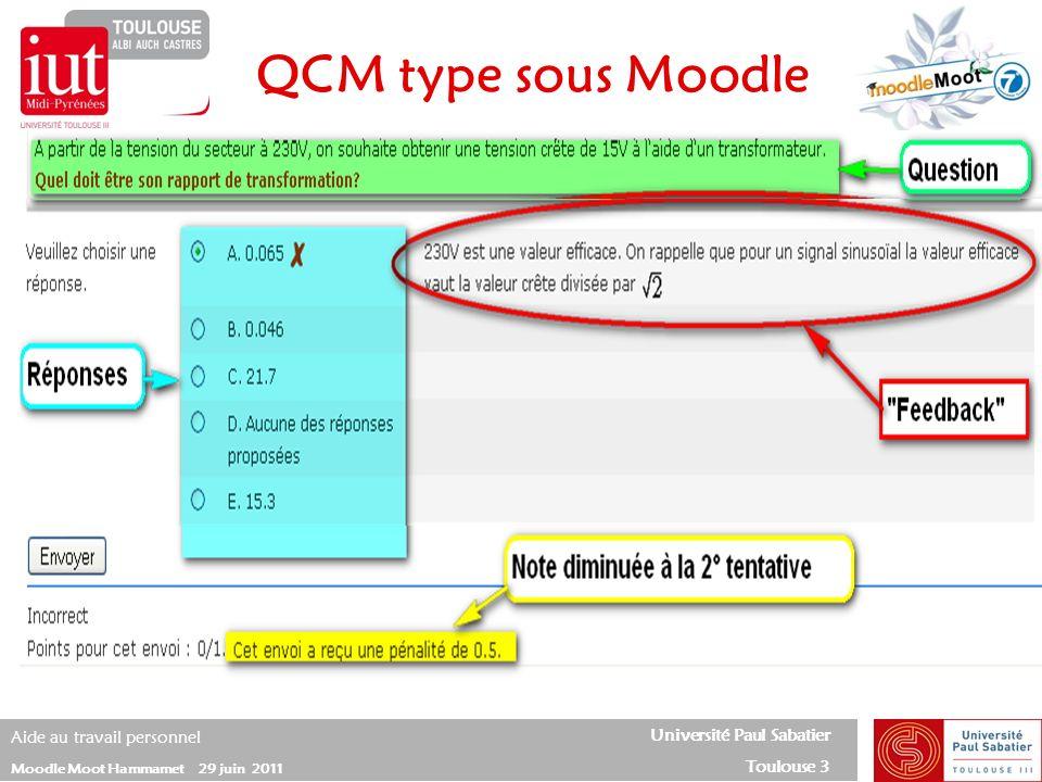 QCM type sous Moodle 25