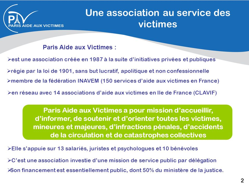 Une association au service des victimes