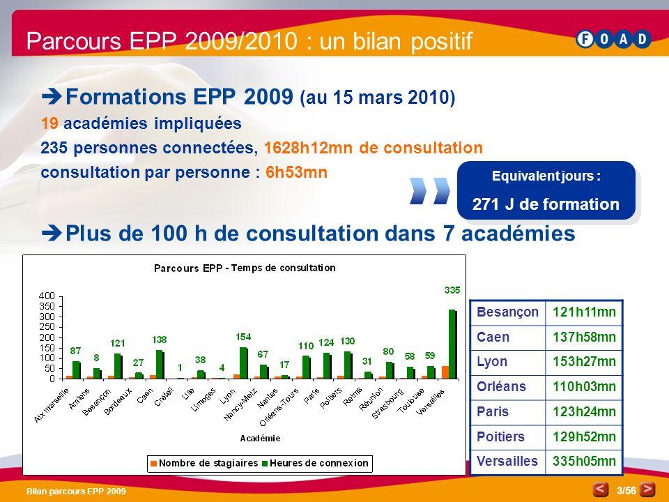 Parcours EPP 2009/2010 : un bilan positif