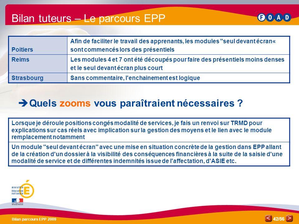 Bilan tuteurs – Le parcours EPP