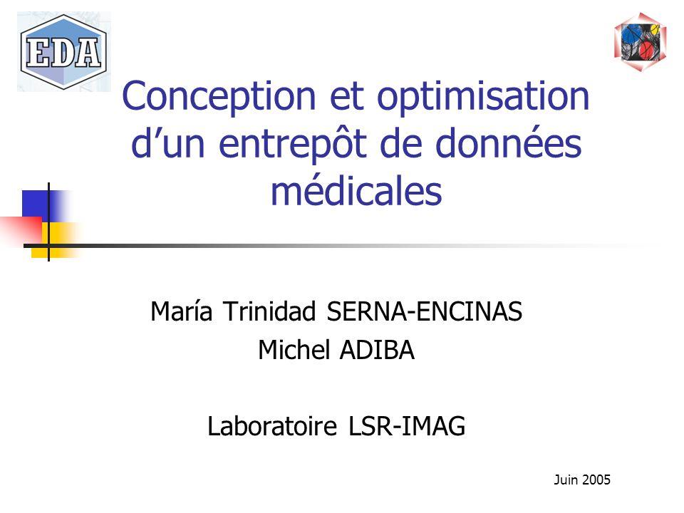 Conception et optimisation d'un entrepôt de données médicales