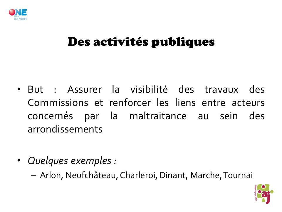 Des activités publiques