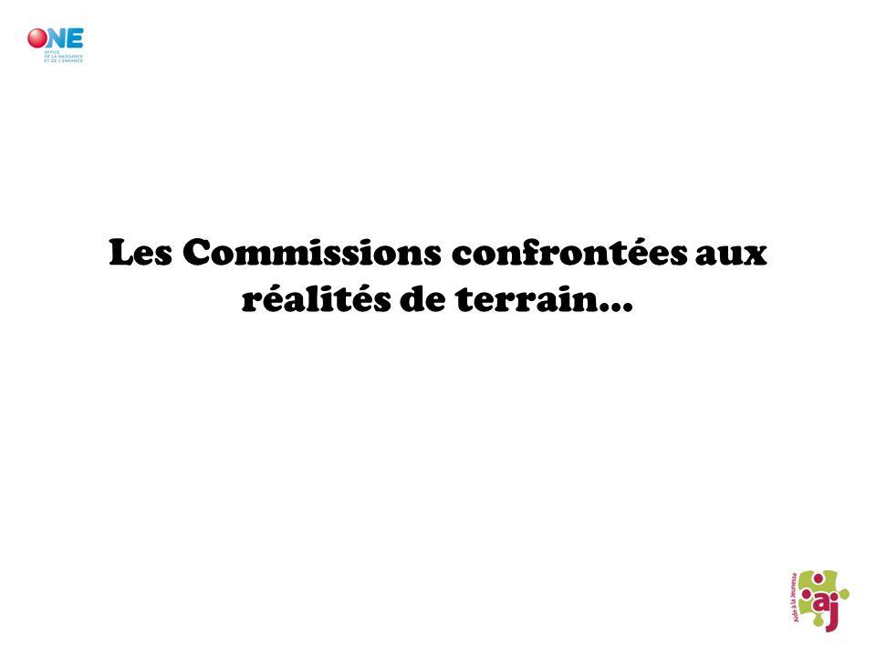 Les Commissions confrontées aux réalités de terrain…