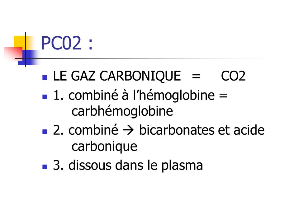 PC02 : LE GAZ CARBONIQUE = CO2