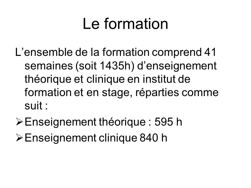 Le formation