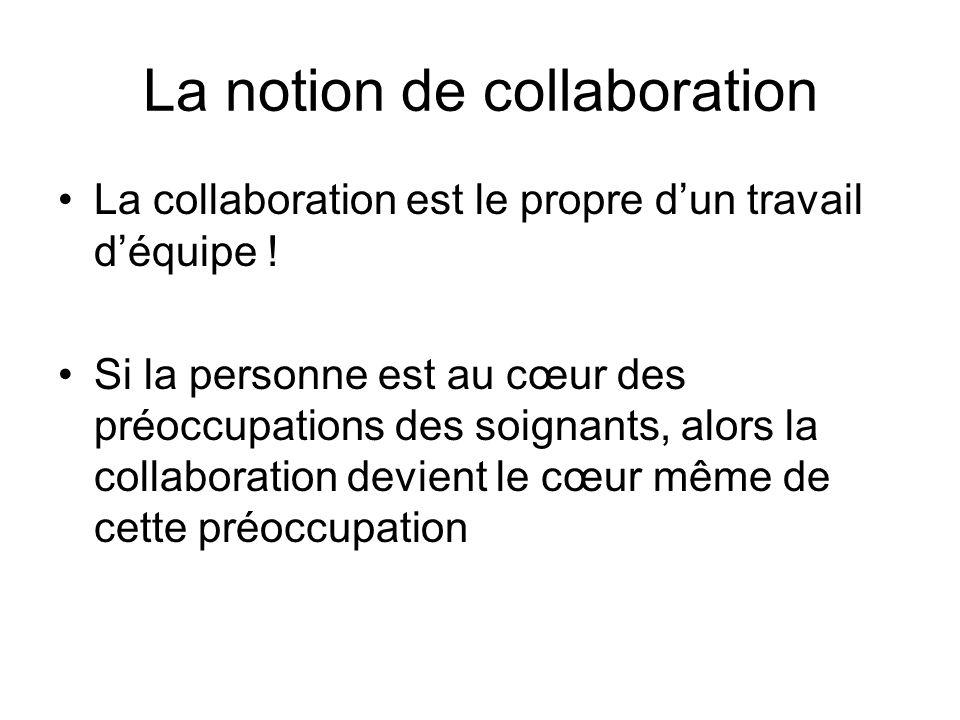 La notion de collaboration