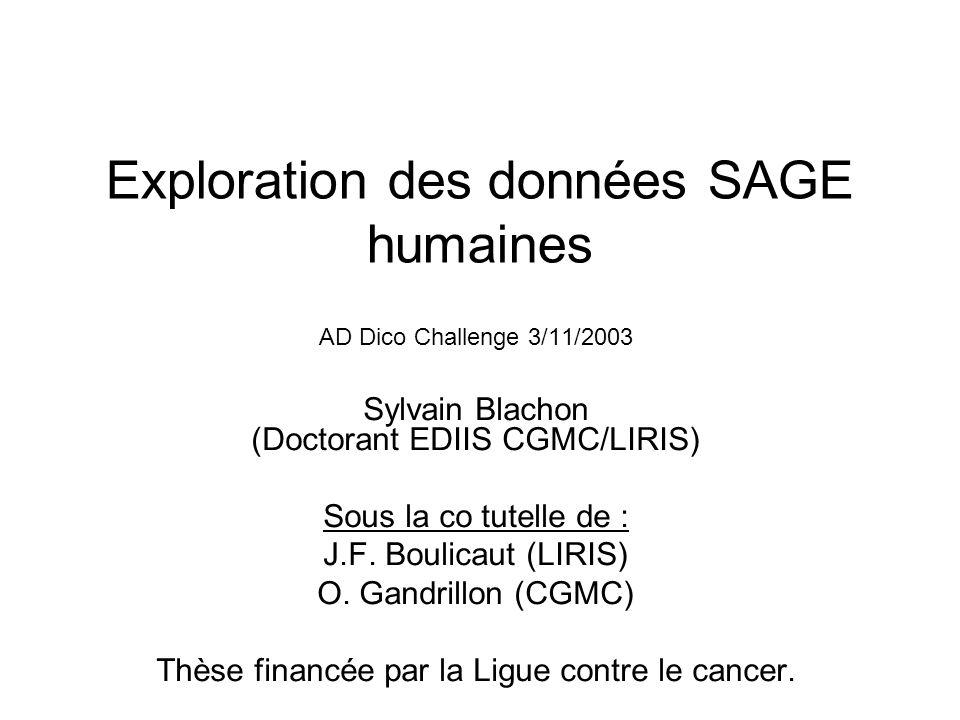 Exploration des données SAGE humaines