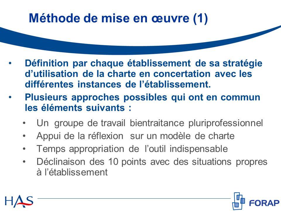 Méthode de mise en œuvre (1)