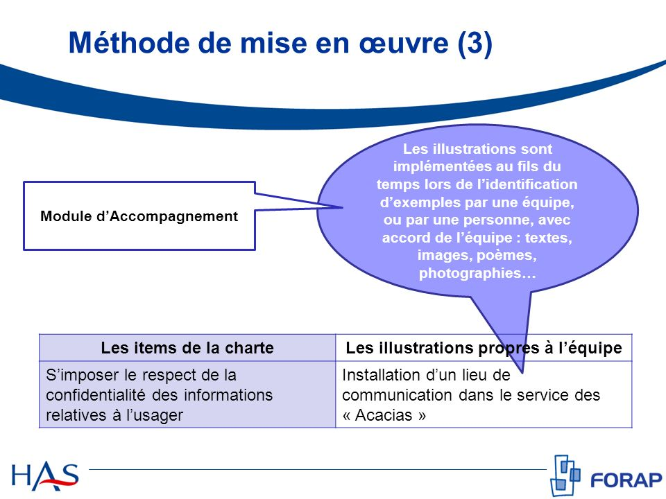 Méthode de mise en œuvre (3)