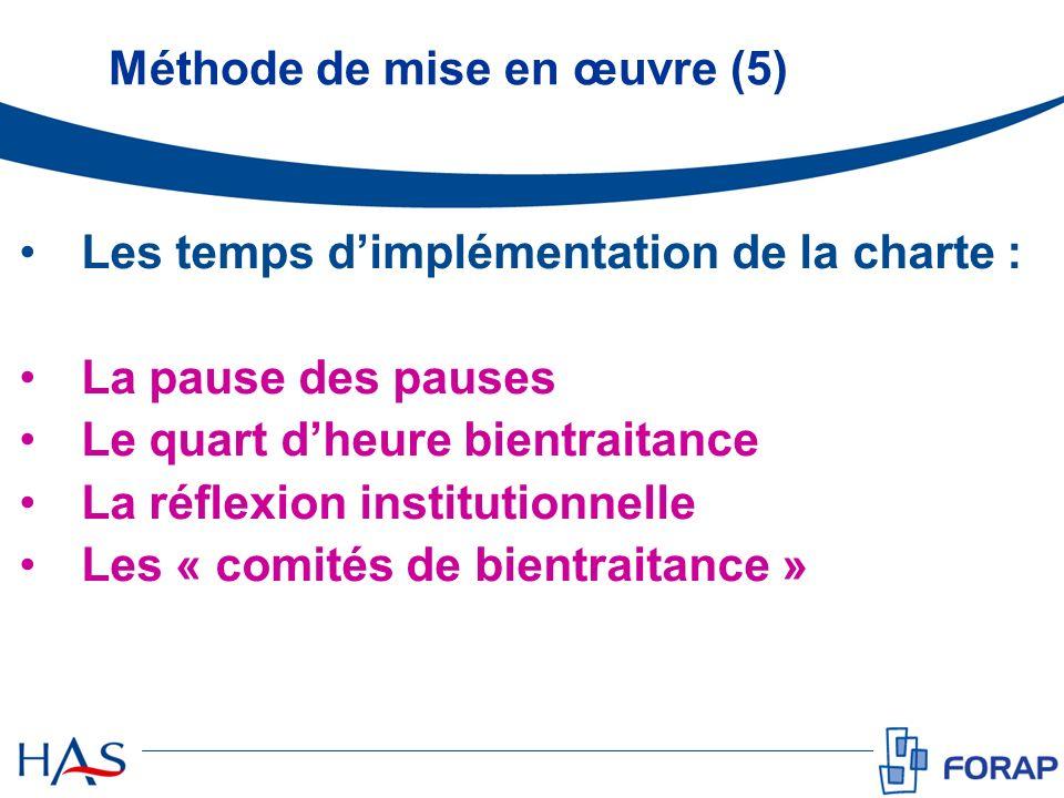 Méthode de mise en œuvre (5)