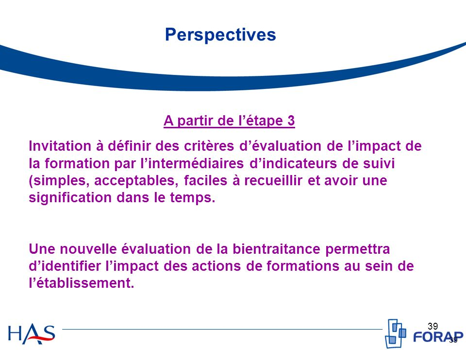 Perspectives A partir de l'étape 3
