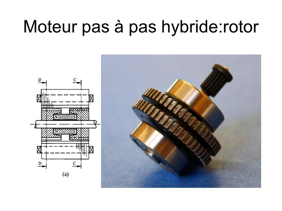 Moteur pas à pas hybride:rotor