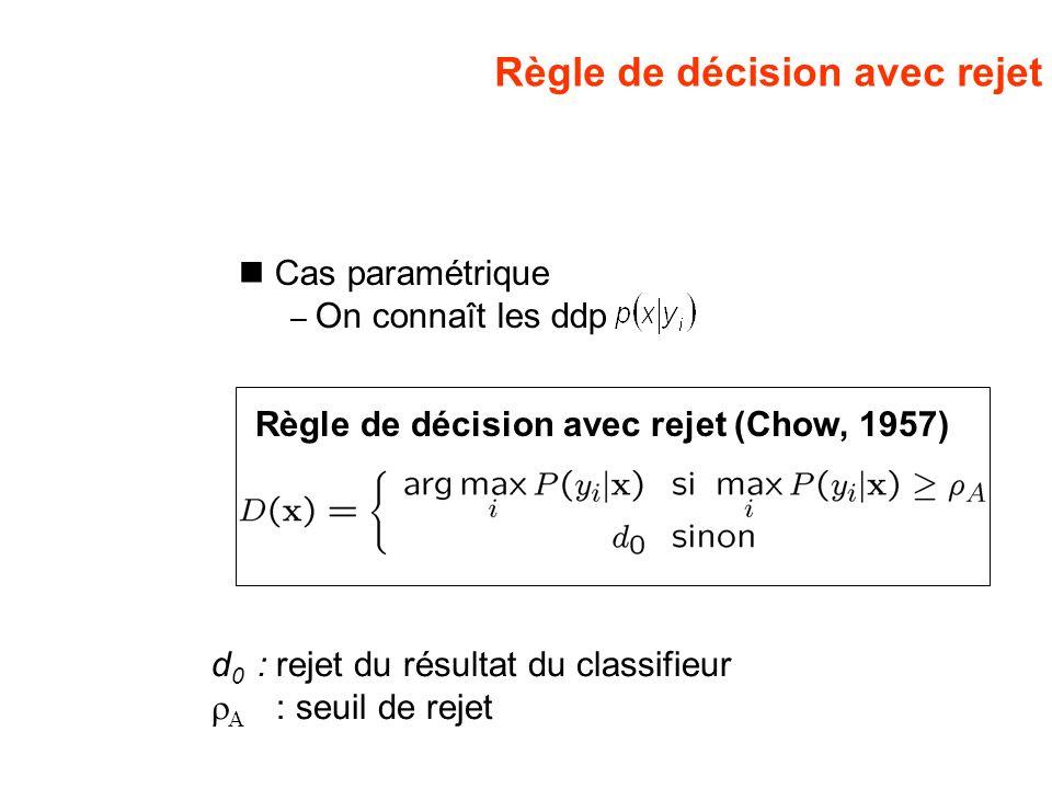 Règle de décision avec rejet