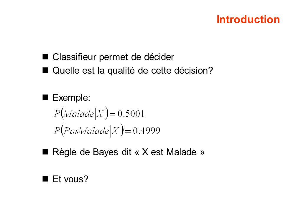 Introduction Classifieur permet de décider