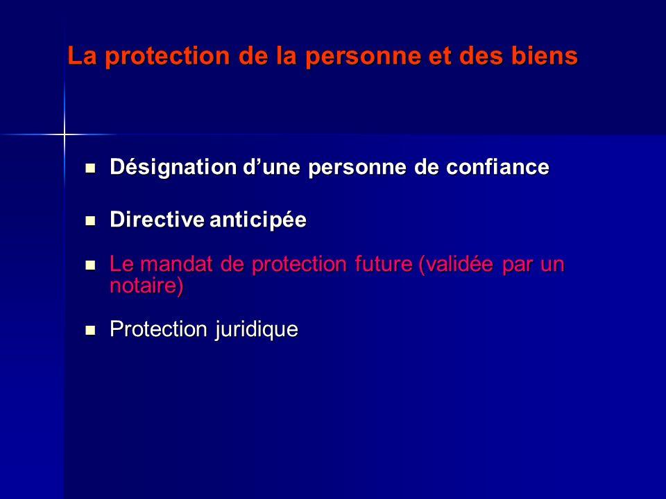 La protection de la personne et des biens