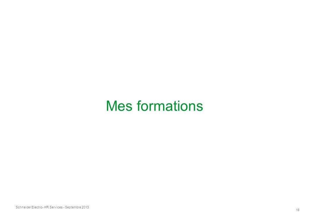 Mes formations