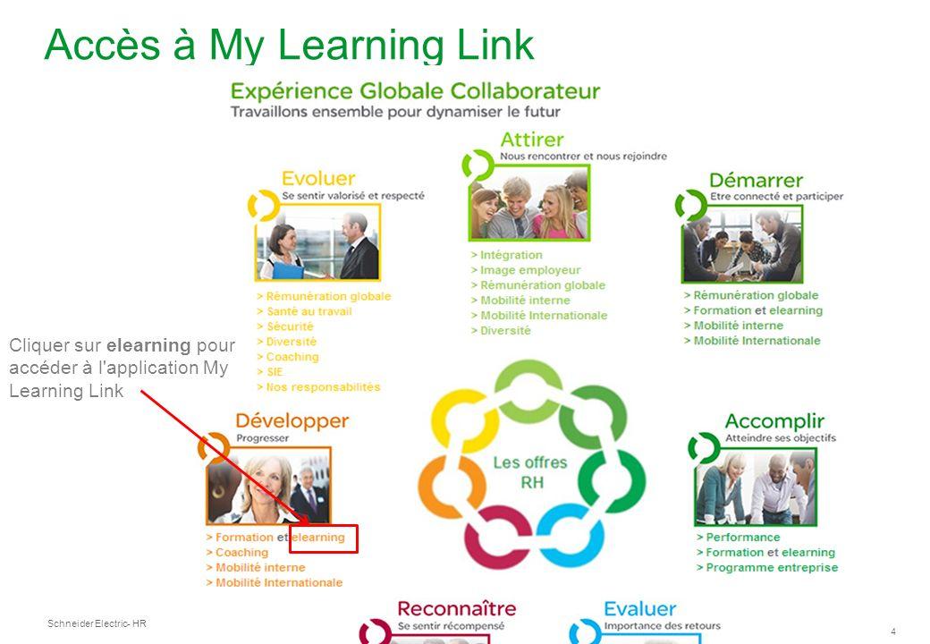 Accès à My Learning Link