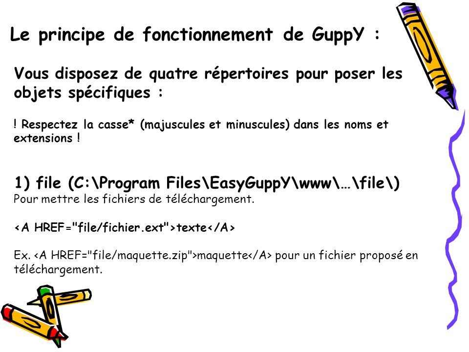 Le principe de fonctionnement de GuppY :