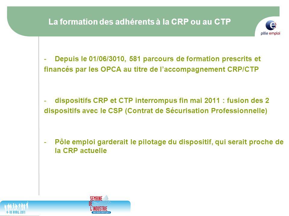 La formation des adhérents à la CRP ou au CTP