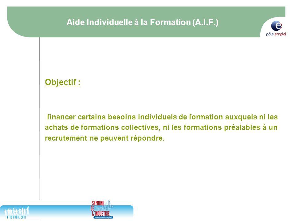Aide Individuelle à la Formation (A.I.F.)