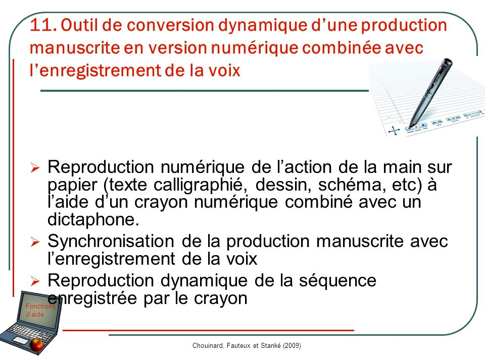 Chouinard, Fauteux et Stanké (2009)